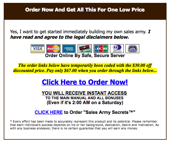 Buy Affiliate Sales Army Now!